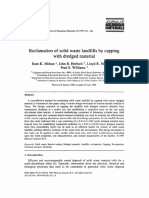 Reclamation of Solid Waste Landfills by Capping With Dredged Material