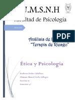 Analisis de La Pelicula Terapia de Riesgo