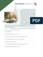 Coord e Subord - Ficha Com Soluções - 9º