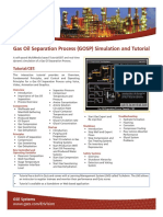GOSP Gas Oil Separation Process Training Simulation Tutorial EnVision