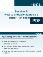 How to Critically Appraise a Paper Caroline Sabin