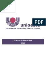 Manual do candidato - Vestibular 2019 Unioeste