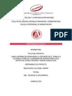 Informe Final de Intervención Social.