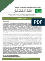 Congreso internacional de arquitectura e ingeniería hospitalarias