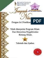 Sijil Nilam Boleh Print Sendiri