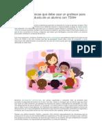 Estrategias Básicas Que Debe Usar Un Profesor Para Mejorar La Conducta de Un Alumno Con TDAH