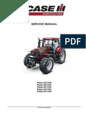 Case-Puma-165-180-195-210-225-Cvx-Repair-Manual | Gasoline | KeroseneScribd