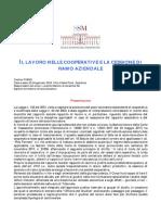 1-P18003 - SSM 22-24 Gennaio 2018 - Il Lavoro Nelle Cooperative e La Cessione Di Ramo Aziendale