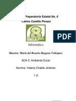 ADA 5 Ambiente Excel