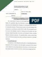 US Vs Paul Manafort Plea Deal Breach Filing 12/07/18