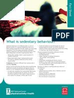 Sedentary Behaviour