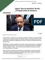 """Pétrole- Washington """"pas en position"""" d...te à l'Opep selon le ministre saoudien"""
