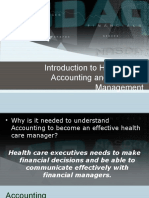 10 Introduction to Health Care Accounting and Financial Management