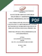 CARACTERIZACIÓN DEL FINANCIAMIENTO, cap y renta mype.pdf