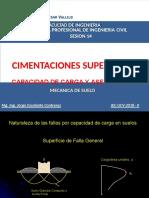 Cimentacion Superficial Capacidad de Carga Del Suelo Asentamiento Admisible