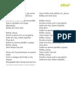 BRILHA JESUS - Aline Barros (Impressão)