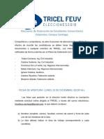 Reglamento TRICEL 2018
