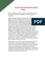 Biografía Del General Antonio José de Sucre