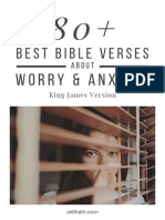 80+ Best Bible Verses About Worry and Anxiety