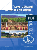 Level 2 Award in Wines and Spirits Specification