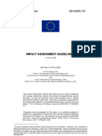 Impact Assessment Guidelines - 2005 - EU