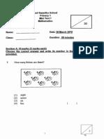Java Samples P1 Maths CA1 2012 Red Swastikax