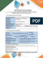 Guía de Actividades y Rúbrica de Evaluación - Fase 5 – Realizar Resumen Ejecutivo Del Plan de Negocios