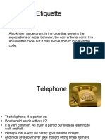 Telephone Etiquette by Alliance Training Solutions. 274