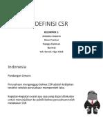 Definisi Csr Kelompok 1