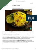 Receta de Arroz Con Cúrcuma y Limón - Fácil