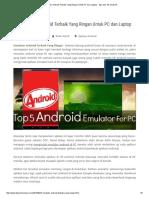 5 Emulator Android Terbaik Yang Ringan Untuk PC Dan Laptop - Tips Dan Trik Android
