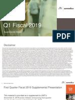 UNFI FY19 Q1 Supplemental Slides