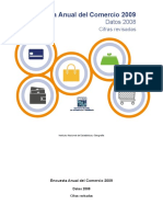 encuesta anual de comercio mexico 2009