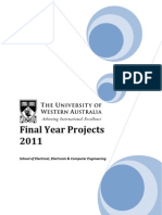 2011 Projects Offered