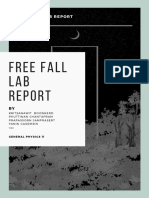 free fall lab report