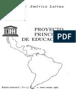 UNESCO - Proyecto Principal de Educacion