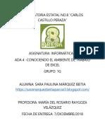 Ambiente Excel Sara Márquez