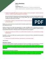 Fallas Del Mercado de Salud Colombiano