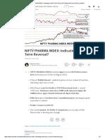 NIFTY PHARMA INDEX_ Indicating a Short Term Reversal_ _ Nabamita Pyne _ Pulse _ LinkedIn