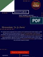 """Recetario """"De La Huerta"""""""