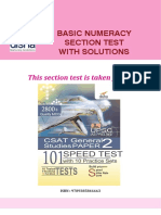 Basic Numeracy Section Test With Sol