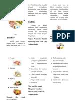 Leaflet Kebutuhan Nutrisi Pada Anak Toddler