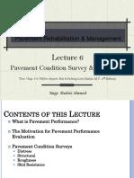 Pavement Condition Survey Evaluation,Lecture 6