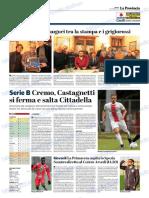 La Provincia Di Cremona 08-12-2018 - Serie B