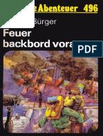 Das Neue Abenteuer 496 - Helmut Bürger - Feuer Backbord Voraus