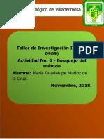 Actividad No. 6 - Bosquejo Del Método_MuñozdelaCruz
