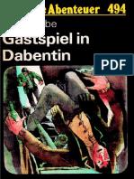 Das Neue Abenteuer 494 - Hans Siebe - Gastspiel in Dabentin