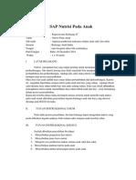 SAP Nutrisi Pada Anak Dan Balita