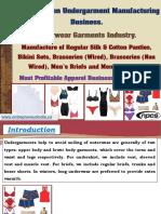 Men & Women Undergarment Manufacturing Business