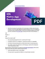 iOS Native App You Should Care for Development Platform